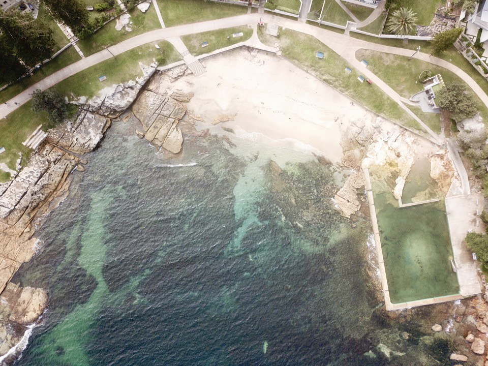 Fairlight Beach from above in Manly, Australia